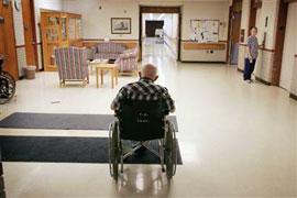 отдать в дом престарелых