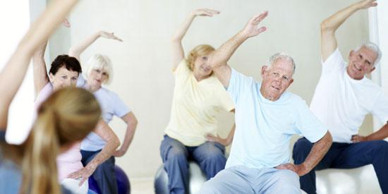 Занятия в группах для пожилых