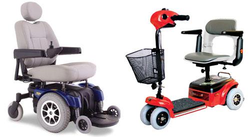 Электрифицированное инвалидное кресло и электросамокат