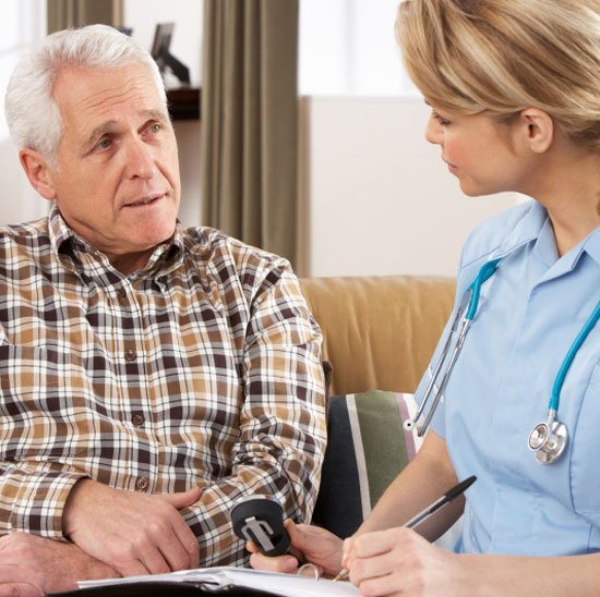 Определить в дом престарелых